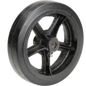 """10"""" x 2-1/2"""" Mold-On Rubber Wheel, 3/4"""" Axle, 1/Pk"""