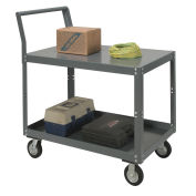 "Two Shelf Unassembled Heavy Duty Service Cart, 1200 Lb. Capacity, 48""L x 24""W x 27""H"