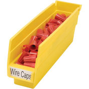 "Plastic Shelf Bin Nestable, 2-3/4""W x 11-5/8""D x 4""H Yellow - Pkg Qty 24"