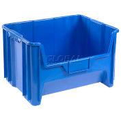 Plastic Hopper Bin, Blue, 19-7/8x15-1/4x12-7/16 - Pkg Qty 3
