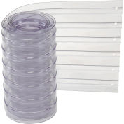 "12"" x 7' Scratch Resistant Ribbed Clear Strip for Strip Curtains"