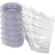 "12"" x 8' Scratch Resistant Ribbed Clear Strip for Strip Curtains"