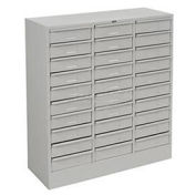 "Drawer Cabinet, 30 Drawer - Legal Size, 30-5/8""W X 14-5/8""D X 33-7/16""H, Gray"