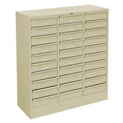 Drawer Cabinet, 30 Drawer - Legal Size, 30 5/8 X 14-5/8 X 33-7-7/16, Putty