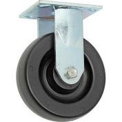 "Faultless Rigid Plate Caster, 6"" Polyolefin Wheel"