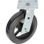 """Faultless Swivel Plate Caster, 8"""" Mold-On Rubber Wheel"""