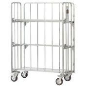 "Folding Truck with Slatted Tilting Shelves, 48""L x 26""W x 68""H, 2000 Lb. Capacity"
