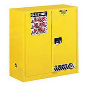 Flammable Cabinet With Manual Close Double Door, 30 Gallon