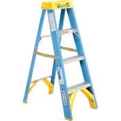 Werner 6004 4' Fiberglass Step Ladder w/ Plastic Tool Tray