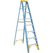 Werner 6008 8' Fiberglass Step Ladder w/ Plastic Tool Tray 250 lb. Cap