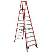 10' Fiberglass Platform Step Ladder, 300 lb. Cap