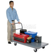 "Platform Truck w/Steel Deck, 5"" Polyurethane Casters, 48 x 30, 1000 Lb. Capacity"