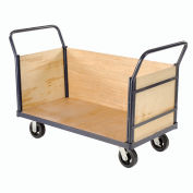 Euro Style Truck - 3 Wood Sides & Deck, 60 x 30, 2400 Lb. Capacity
