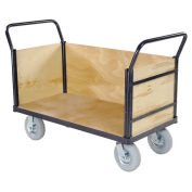 Euro Style Truck - 3 Wood Sides & Deck, 60 x 30, 1200 Lb. Capacity