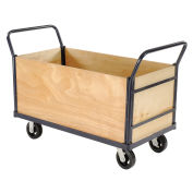 Euro Style Truck - 4 Wood Sides & Deck, 48 x 24, 2400 Lb. Capacity