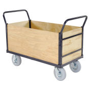 Euro Style Truck - 4 Wood Sides & Deck, 48 x 24, 1200 Lb. Capacity