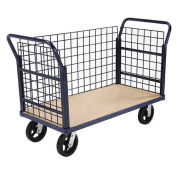Euro Style Truck - 3 Wire Sides & Wood Deck, 48 x 24, 2400 Lb. Capacity