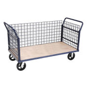Euro Style Truck - 3 Wire Sides & Wood Deck, 60 x 30, 2400 Lb. Capacity