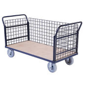 Euro Style Truck - 3 Wire Sides & Wood Deck, 60 x 30, 1200 Lb. Capacity