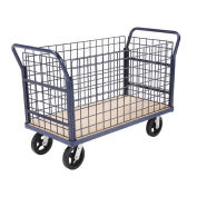 Euro Style Truck - 4 Wire Sides & Wood Deck, 48 x 24, 2400 Lb. Capacity