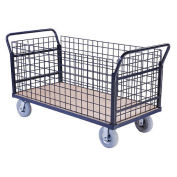 Euro Style Truck - 4 Wire Sides & Wood Deck, 60 x 30, 1200 Lb. Capacity