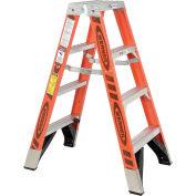 Werner T7404 4' Dual Access Fiberglass Step Ladder 375 lb. Cap