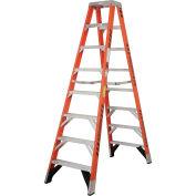Werner T7408 8' Dual Access Fiberglass Step Ladder 375 lb. Cap