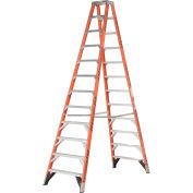 Werner T7412 12' Dual Access Fiberglass Step Ladder 375 lb. Cap
