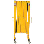 "16 to 141""W Steel Portable Barricade Gate With Casters"