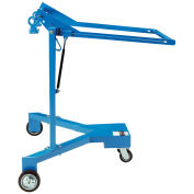 Portable Drum Lifter & Palletizer, Steel, Blue, 800 Lb. Capacity