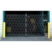 12'W Double Folding Security Gate, 8'H