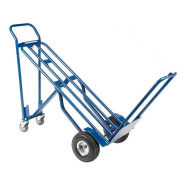 Steel 3-in-1 Convertible Hand Truck with Pneumatic Wheels