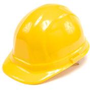 ERB Omega II Poly Hard Hat - Ratchet Adjustment - Yellow