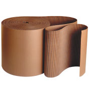 "Single Face Corrugated Kraft ""A"" Flute Corrugated - 12""Wx250'L Roll"