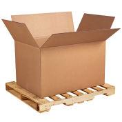 """Heavy-Duty Double Wall Cardboard Corrugated Boxes, 41"""" x 28-3/4"""" x 25-1/2"""", Kraft, AF412825 - Pkg Qty 5"""