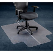 "46""W x 60""L Office Chair Mat w/ 25"" x 12"" Lip for Carpeted Floor"