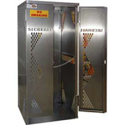 Vertical Gas Cylinder Cabinet, 5 to 10 Cylinder Capacity, Aluminum