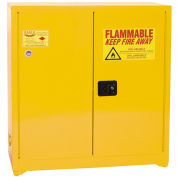 "EAGLE Paints, Inks, And Class III Combustibles Safety Cabinet - 43x18x44"" - Self-Close Doors - Yello"