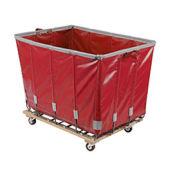 DANDUX Vinyl Basket Bulk Truck, 20 Bushel, Red