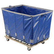 DANDUX Vinyl Basket Bulk Truck, 8 Bushel, Blue
