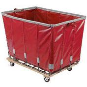DANDUX Vinyl Basket Bulk Truck, 12 Bushel, Red