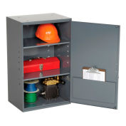 """Utility Wall Mount Cabinet, 19-7/8""""W x 14-1/4""""D x 32-3/4""""H, Gray"""