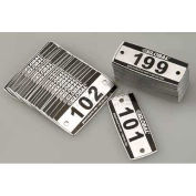 Locker Number Plate Kit, Numbered 101-299