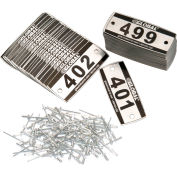 Locker Number Plate Kit - Pkg Of 200 Numbered 300-499