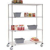 Stainless Steel Wire Shelf Truck, 72x18x69, 1200 Lb. Capacity