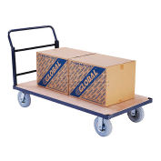 "Steel Bound Platform Truck w/Wood Deck, 60 x 30, 8"" Pneumatic Casters, 1200 Lb. Capacity"