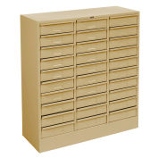 "Drawer Cabinet, 30 Drawer - Legal Size, 30 5/8""W X 14-5/8""D X 33-7/16""H, Sand"