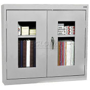 "SANDUSKY LEE Wall-Hung Cabinet with Clear-View Doors - 30x12x26"" - Light gray"