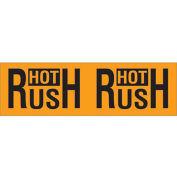 "3"" x 10"" Hot Rush Pallet Corner Labels, Fluorescent Orange, 500 Per Roll"
