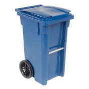 Otto Mobile Heavy Duty Trash Container, 35 Gallon, Blue